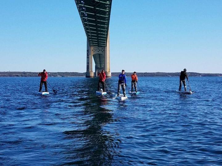 Mackinaw Straights Paddle, Stand Up for Great Lakes